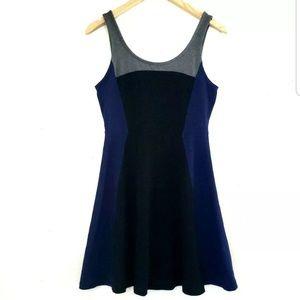 Express Color block Skater Dress